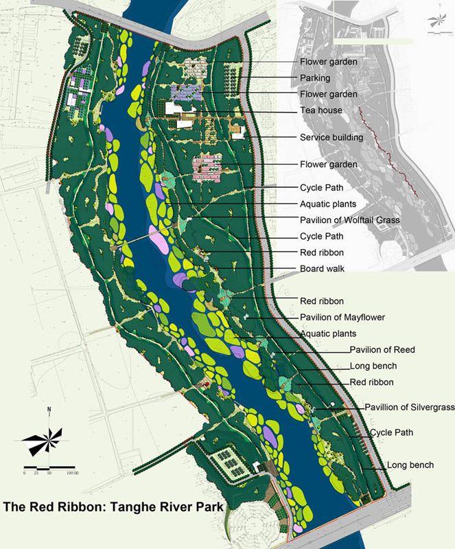 План проекта речного парка Тангхе