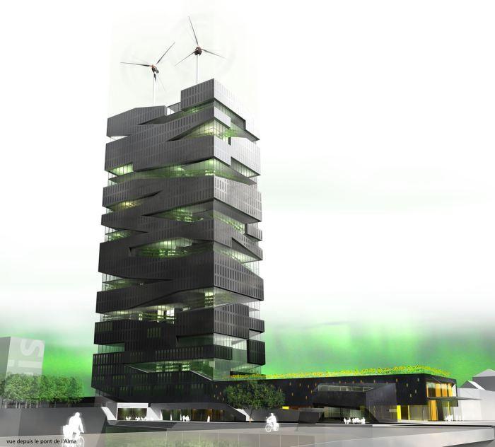 Проект «Живая башня» от SOA Architects: день