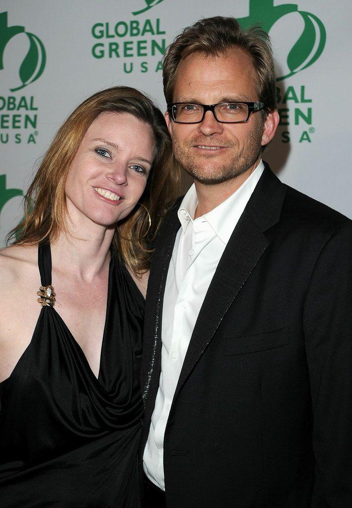 Генеральный директор Global Green USA Мэтт Петерсон и Жюстин Маск на 8й ежегодной зеленой вечеринке Global Green USA's Pre-Oscar Party 2011
