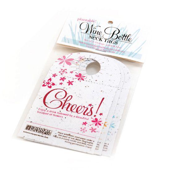 Бумага, прорастающая цветами - винные этикетки