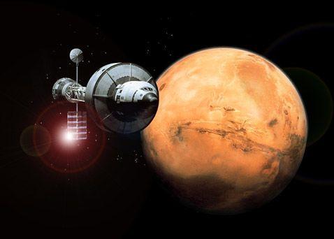 Вид Марса из космоса