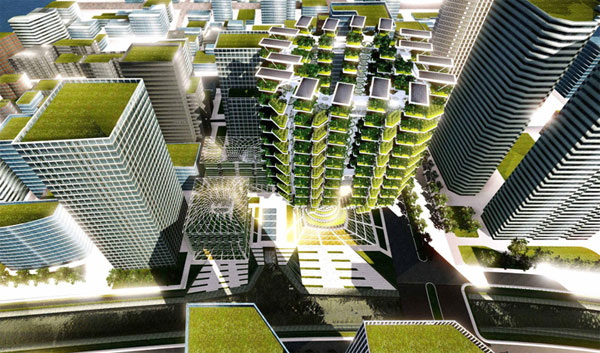 Dubbed Urban Skyfarm: реальная жизнь искусственного дерева