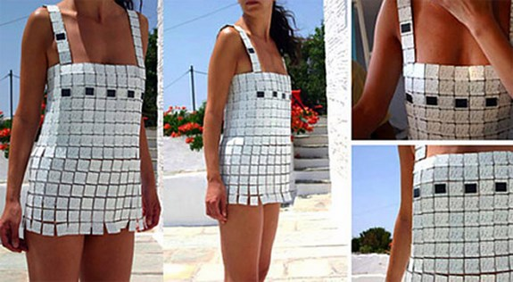 Мини платье на энергии солнца