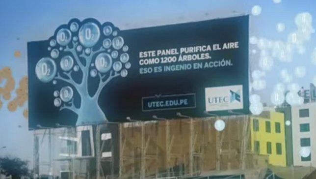 Рекламный щит, выполняющий работу 1200 деревьев