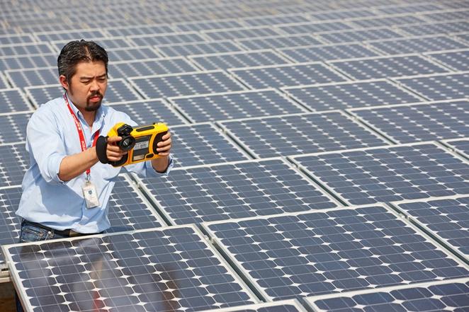 Солнечные поля Китая