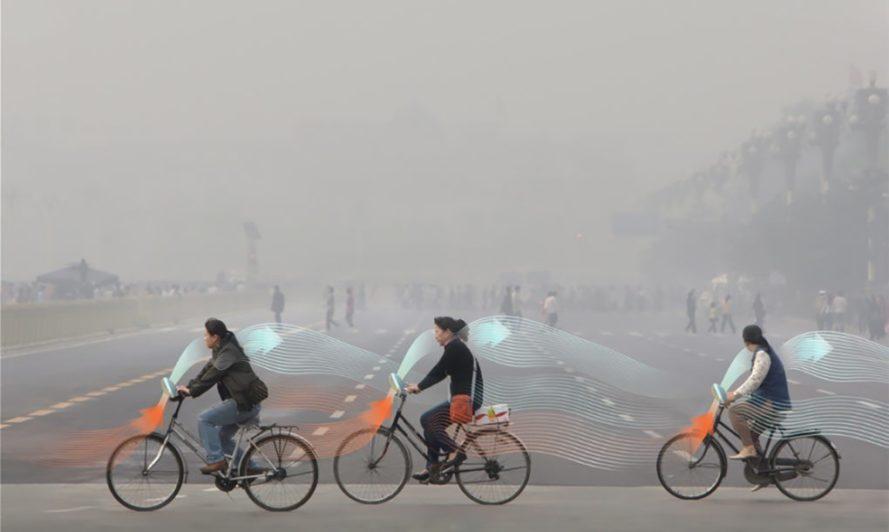 Велосипед, очищающий воздух, для 20 млн китайцев