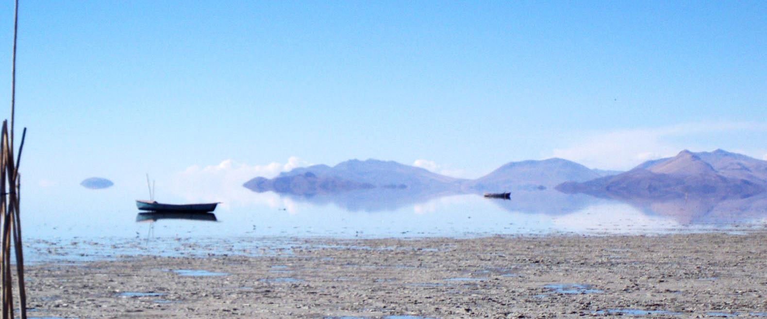 Второе по величине озеро в Боливии полностью высохло