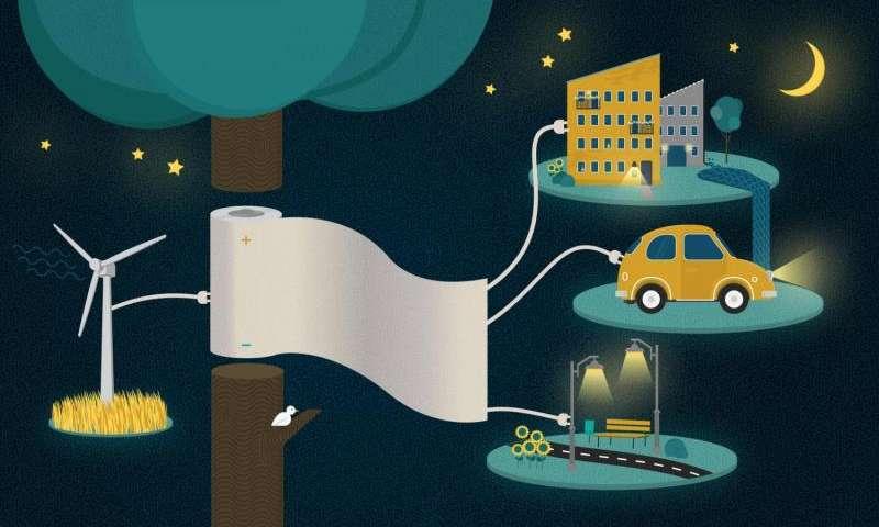 «Энерго бумага» хранит электроэнергию и перезаряжается за секунды