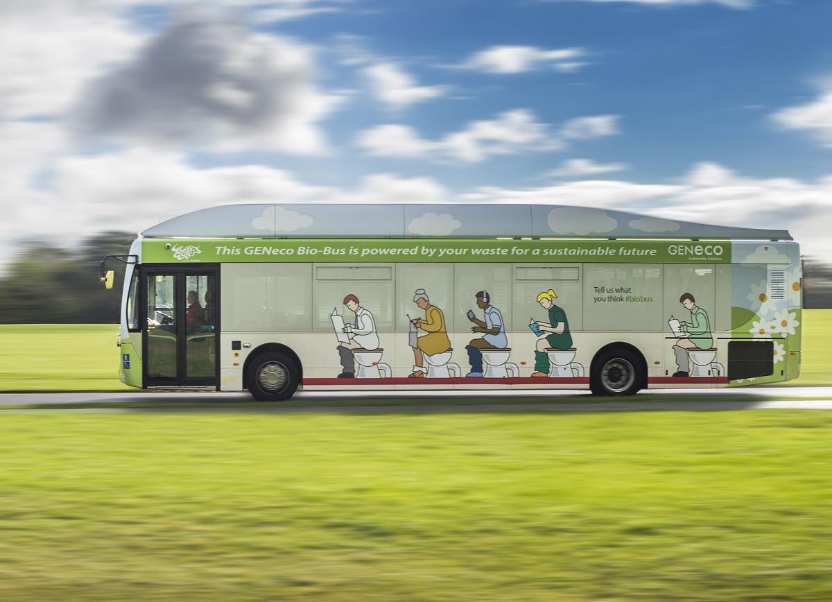 Автобус, приводимый в движение при помощи фекалий, запущен в Великобритании. Facepla.net последние новости экологии
