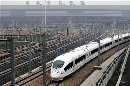 a-high-speed-train-travels-on-the-newly-