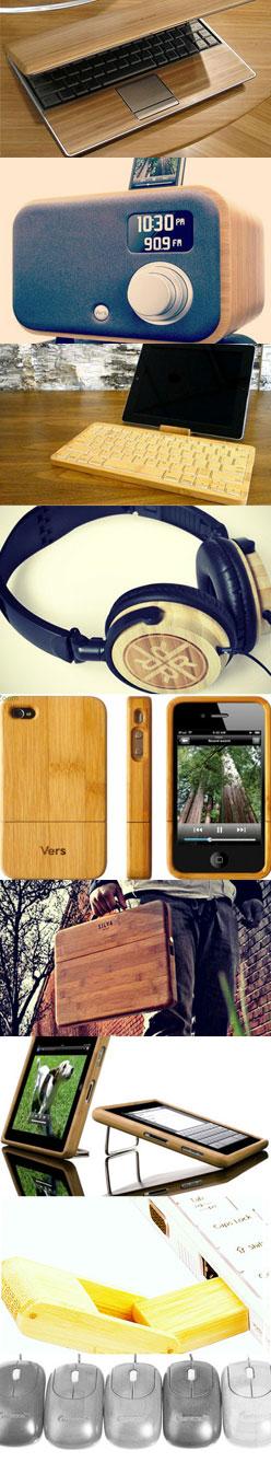 Дружественные окружающей среде гаджеты из бамбука