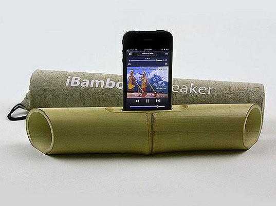 iBamboo-speaker - бамбуковые колонки для iPhone