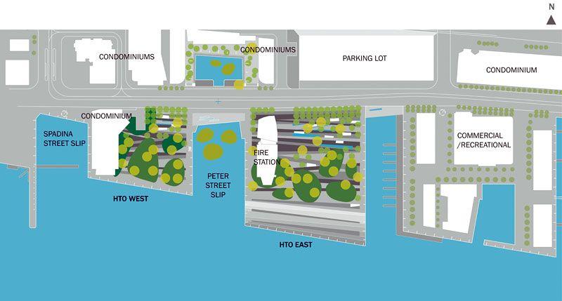 План проекта Парка HtO в Торонто
