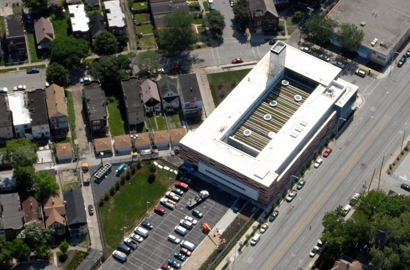 Крыше-ферма Молодежного центра Gary Comer в Чикаго, США
