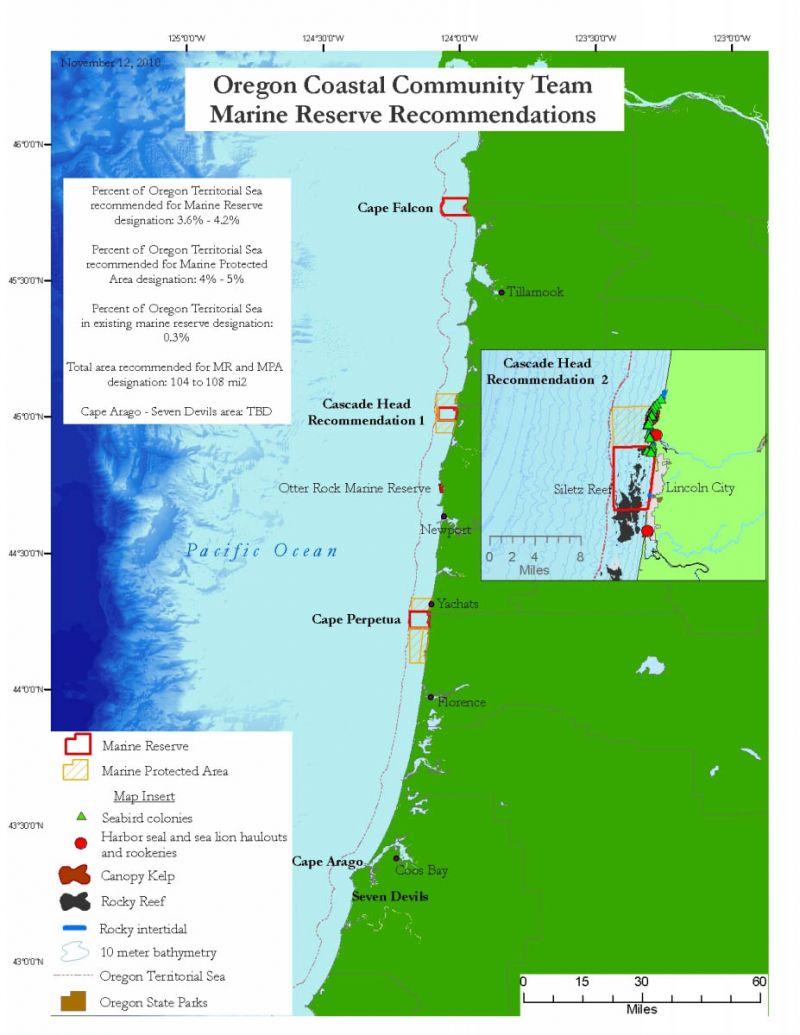 Рекомендации по созданию сети морских заповедников в штате Орегон