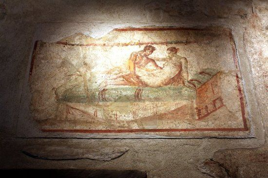 Настенный рисунок в Помпеях - расцвету Древнего Рима содействовал стабильный климат