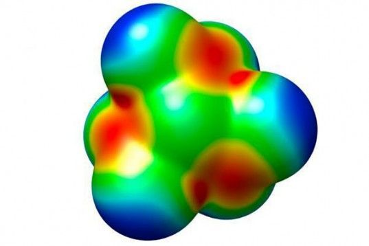 Молекула тринитрамида