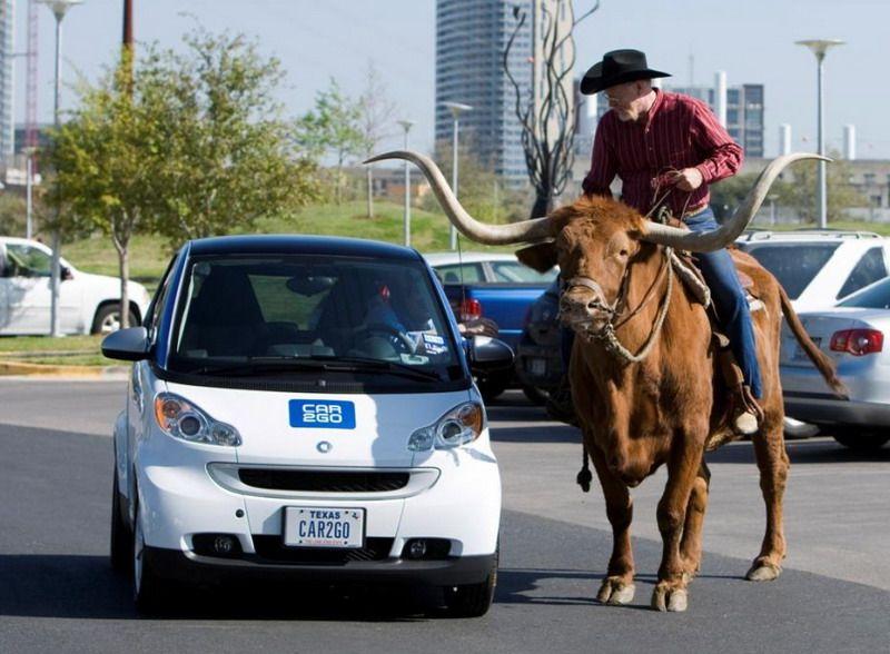 Программа совместного использования и проката автомобилей Car2go в Остине, Техас