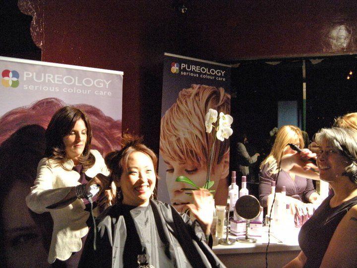Прически от Pureology, спонсора 8й ежегодной зеленой вечеринки Global Green USA's Pre-Oscar Party 2011