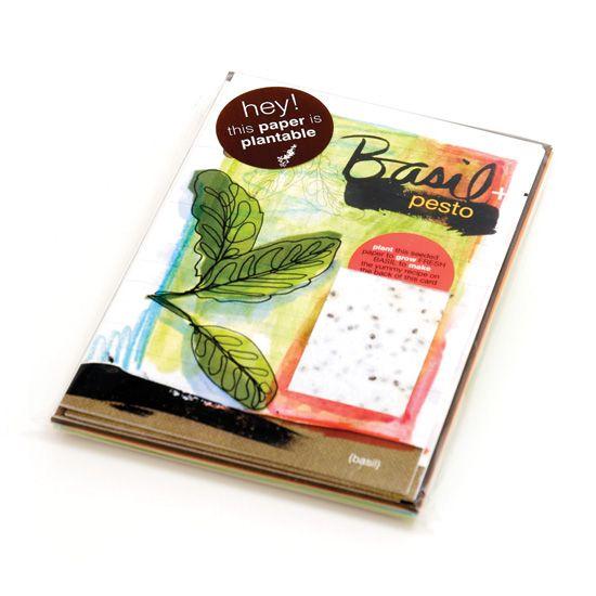 Бумага, прорастающая цветами - катрочки с семенами трав