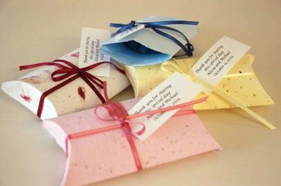 Бумага, прорастающая цветами - пример использования