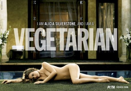 Алисия Сильверстоун: постер для организации PETA