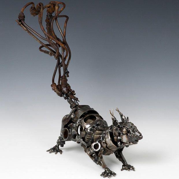Скульптуры Джеймса Корбетта из автохлама