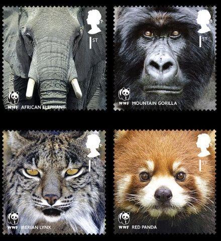 Юбилейные марки к 50-летию WWF